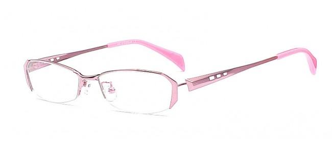 Pinkfarbene Halbrandbrille - Brille in der Trendfarbe Pink