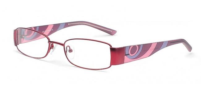 Damenbrille im kräftigen Rotton