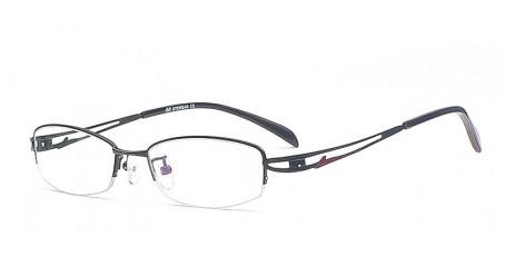 Halbrandbrille mit geschwungenen Bügeln