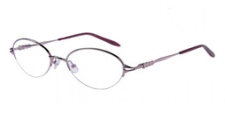 Pinke Halbrandbrille aus Metall mit Federscharnier