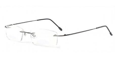 Randlose Gleitsichtbrille mit eckige Gläsern