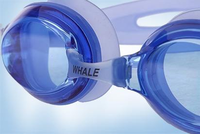 Blaue Schwimmbrille mit Sehstärke