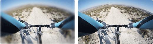 Hi-curved Einstärkengläser