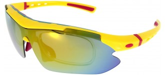 Sportbrille SP0890 in Gelb Rot