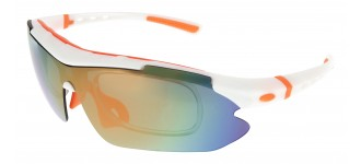 Sportbrille SP0890 in Weiß Orange
