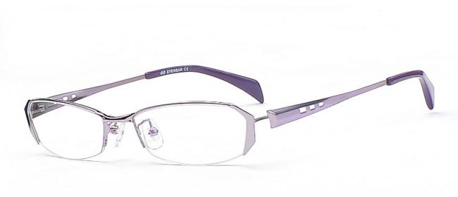 Halbrandbrille in der Farbe Lila - Lilafarbene Halbrandbrille