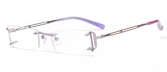 Randlose Damen Brille - Dezente Brillen Bügel