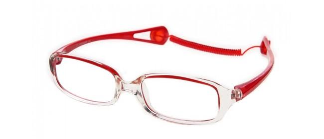 Schicke Kunststoff Kinderbrille in Rot und Weiß