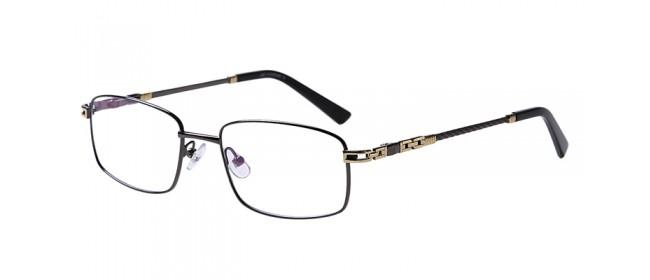 Lila Gleitsichtvollrandbrille aus Metall
