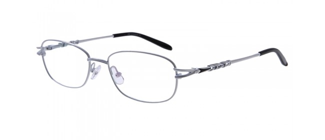 Weiße Damen-Gleitsichbrille aus Metall - Vollrand