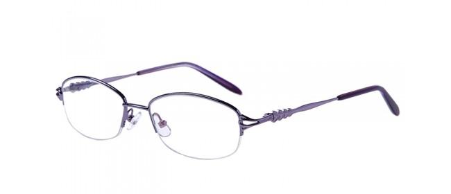 Halbrand Gleitsichtbrille aus Metall in Lila