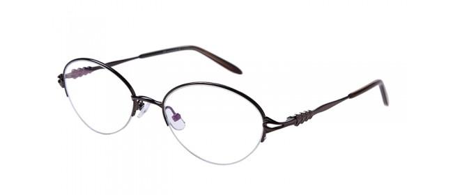 Lila Gleisicht-Halbrandbrille aus Metall