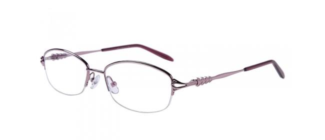 Halbrand Gleitsichtbrille aus Metall in Pink