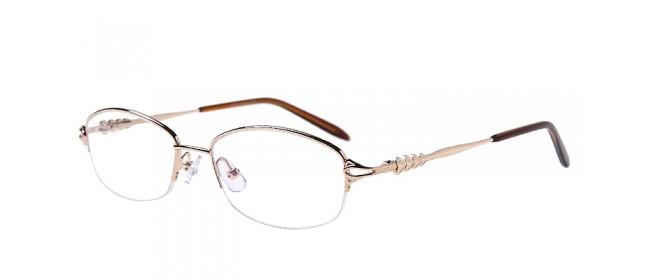 Halbrand Gleitsichtbrille aus Metall in Gold
