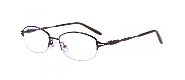 Halbrand Gleitsichtbrille aus Metall in Braun