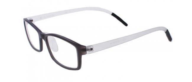 Retro Gleitsichtbrille Vollrand Schwarz-Weiß
