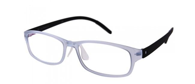 Retro Gleitsichtbrille Vollrand Blau-Schwarz