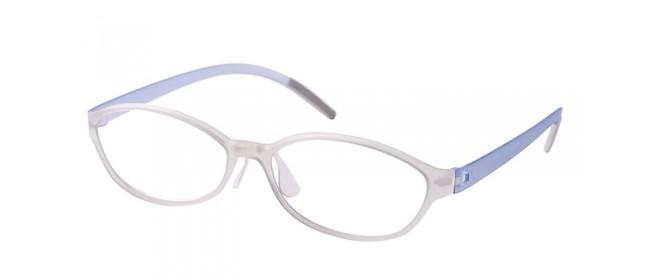 Retro Gleitsichtbrille Vollrand Schwarz-Weiß-Blau