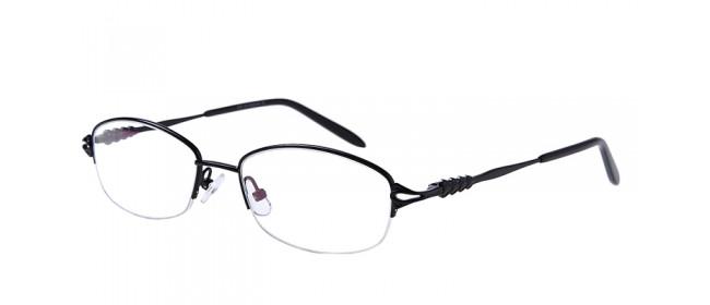 Gleitsichtbrille aus Metall in Schwarz - Halbrand