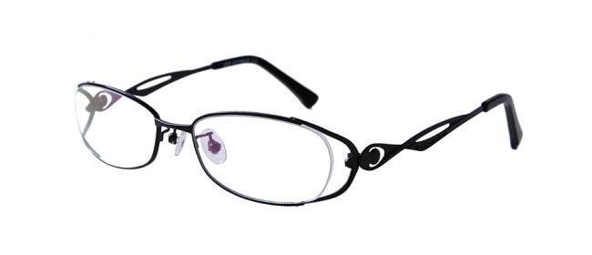 Gleitsichtbrille aus Metall in Schwarz - Vollrand