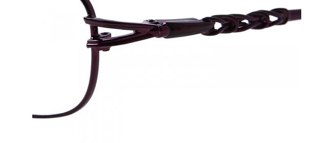 Lila Vollrandbrille aus Metall - filigran