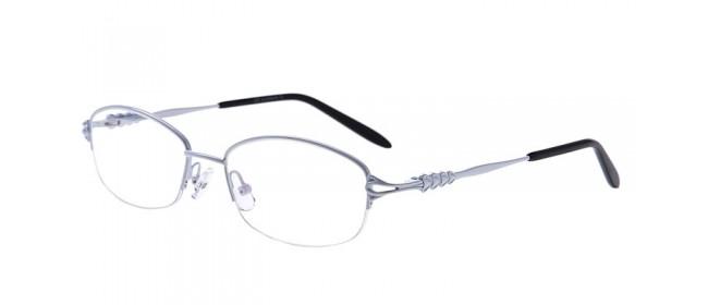 Halbrandbrille aus Metall in Weiß