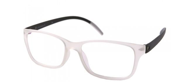 Nerd-Vollrandbrille in Schwarz-weiß