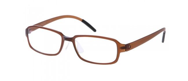 Nerd-Vollrandbrille in Kaffeebraun-schwarz