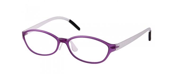 Nerd-Vollrandbrille in Lila-weiß
