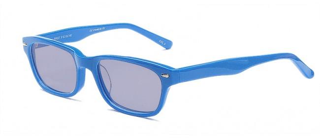 Blaue Sonnenbrile Nerd-Style - Wunderschöner Blauton