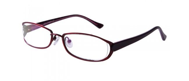 Vollrandbrille in Rot aus Metall und Kunststoff