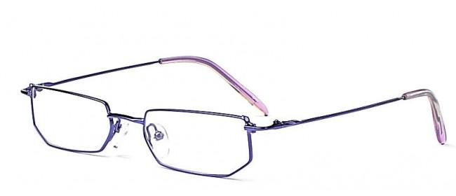 Vollrandbrille mit schmalen Bügeln-edler Lila-Grau Farbmix