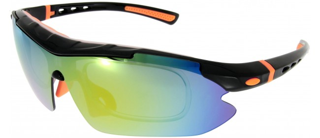 Sportbrille SP0890 in Schwarz Orange