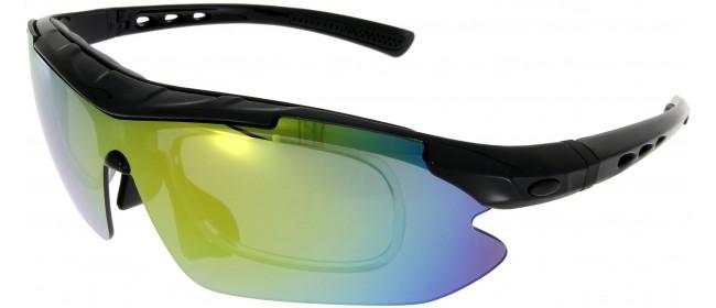 Sportbrille SP0890 in Schwarz