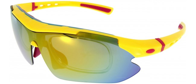Sportbrille SP0890 in Gelb Rot