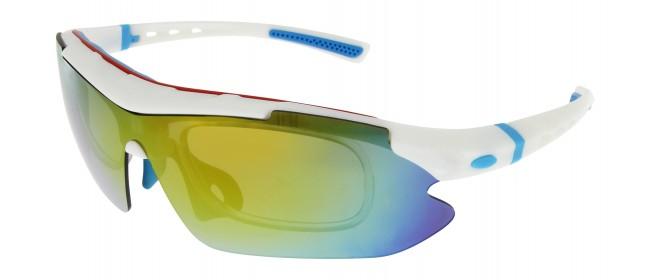 Sportbrille SP0890 in Weiß Blau