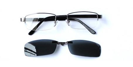Herren Gleitsichtbrille mit Sonnenclip