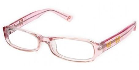 Pinke Mädchenbrille - transparente Optik