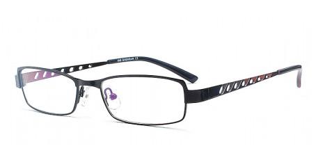 Klassische Halbrandbrille in Schwarz - Trendiges Lochmuster