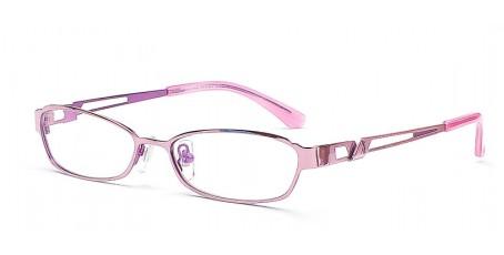 Elegante & trendige Vollrandbrille - Farbe Lila / Pink