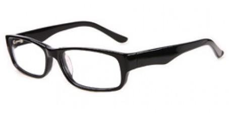 Schwarze Retro Brille - Große Gläser