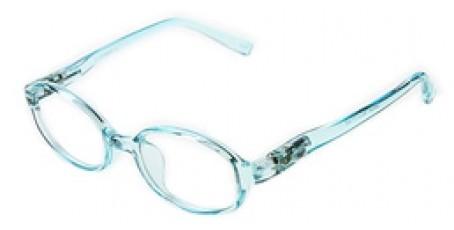 Blaue Kinderbrille - leicht durchsichtige Optik