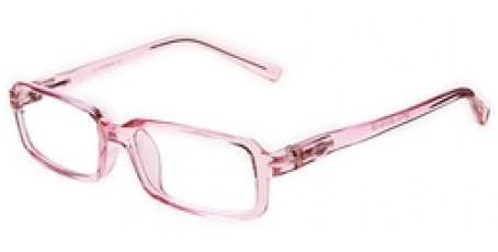 Pinkfarbene Kinderbrille mit Federscharnier