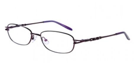 Lila Gleitsichbrille aus Metall - Vollrand