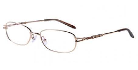 Goldene Gleitsichbrille aus Metall - Vollrand