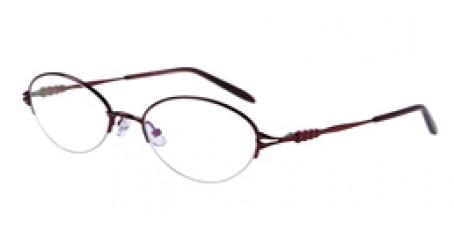 Rote Gleisicht-Halbrandbrille aus Metall