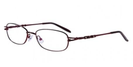 Filigranes Brillengestell - Metallic Rot