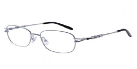 Weiße Halbrandbrille aus Metall - Schwarze Akzente