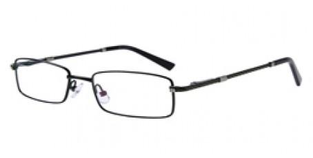 Dunkelgrüne Vollrandbrille aus Metall