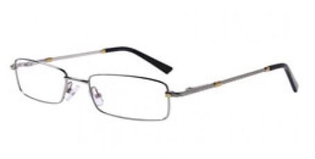 Silberne Vollrandbrille aus Metall